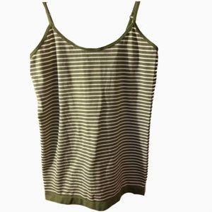 ^5/25* Grane large green white striped cami tank